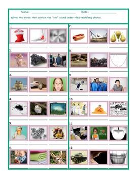 Phonics 3 Letter Digraph CHR Photo Worksheet