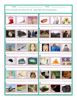 Phonics 3 Letter Digraph PHR Photo Worksheet