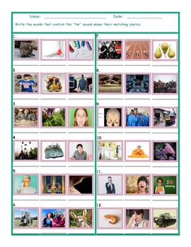 Phonics 3 Letter Digraph THR Photo Worksheet