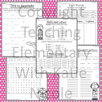 Phonics 3rd Grade Unit 13 Resources for learning silent letters