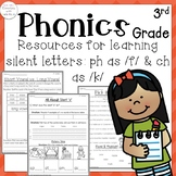 3rd Grade Phonics: Resources for learning silent letters a