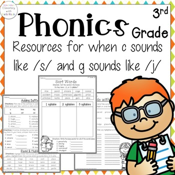 Phonics: 3rd grade Unit 12 Resources for sounds of g and c