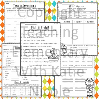 3rd Grade Phonics: Resources for sounds of g and c