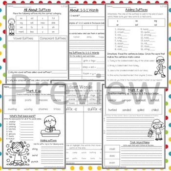 3rd grade Phonics: Resources adding for suffixes