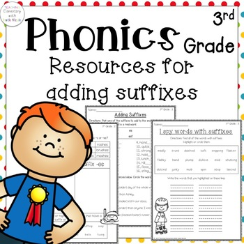 Phonics: 3rd grade Unit 2 Resources adding for suffixes