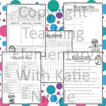 3rd grade Phonics: Resources for adding suffixes to words that end in y