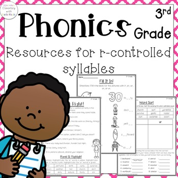 3rd grade Phonics: Resources for r-controlled syllables