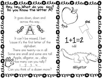 Alphabet Sample of A,B,C Bundle for Kindergarten  (Common Core) {FREE}