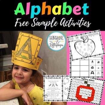 Phonics: A,B,C Free Sample of A,B,C Bundle for Kindergarte