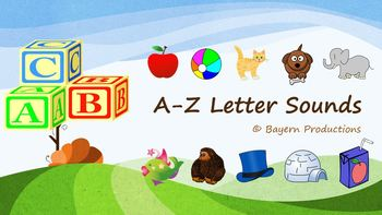 Phonics A-Z Sounds 143 Slide PPT & Flashcards - Goes Great with KidsTV123 Song
