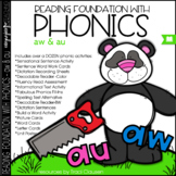 Phonics - AU & AW - Reading Foundational Skills