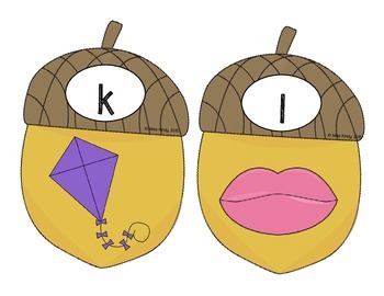 Literacy Center Puzzle: Beginning Sounds (Acorn Top It)