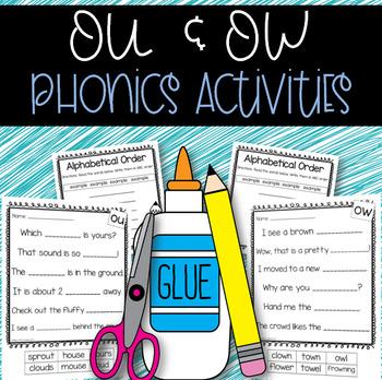 Phonics Activites: Dipthogns (ou & ow)