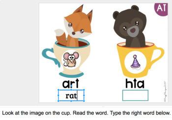 Phonics Activities {Animals Cups} for Google Classroom™