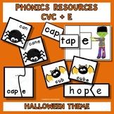 Phonics Activities CVC + E Teaching Resources  Halloween Theme