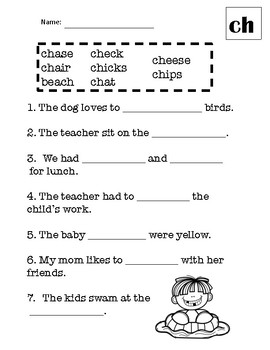 """Phonics Activities: Digraph """"Ch"""" -Poem, Word Work, Riddle, & More!"""