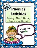 """Phonics Activities: Digraph """"Ch"""" -Poem, Word Work, Riddle,"""