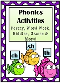 Phonics Activities Ch, Sh, & Th:  Poems, Word Work, Games,