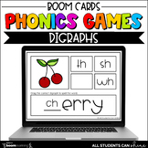 Phonics Activities - Digraphs BOOM Cards {Distance Learning}