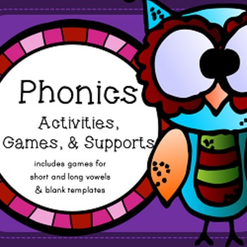 Phonics Activities, Games, and Supports - Short Vowels, Long Vowels