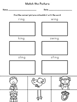 Phonics Activities: ING Trigraph