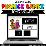 Phonics Activities - Long Vowels BOOM Cards {Distance Learning}
