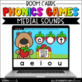 Phonics Activities - Medial Sounds BOOM Cards {Distance Learning}