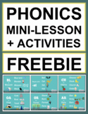 Phonics Activities & Mini Lessons with 21 Videos! FREE