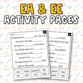 Vowel Teams (ee & ea) Activities