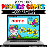 Phonics Activities - Word Families BOOM Cards {Distance Learning}
