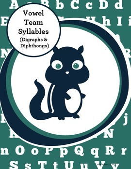 Special Education Phonics Intervention:Multisyllabic Words w Digraphs Diphthongs