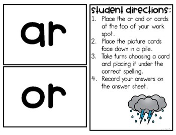 Phonics Activities - ar, or