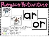 Phonics Activities - ar, or