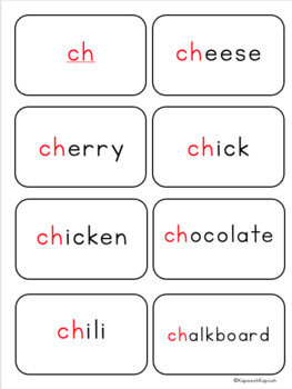 Phonics Activities: ch digraph