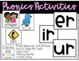 Phonics Activities - er, ir, ur