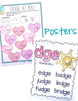 Phonics Activities for 2nd or 3rd grade, soft & hard c & g, dge, tch, tion, sion