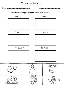 Phonics Activities: ou and ow diphthong