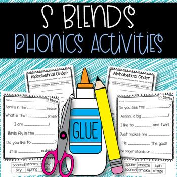 Phonics Activities: S Blends