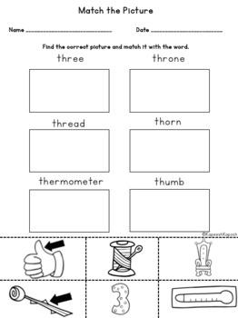 Phonics Activities: th digraph