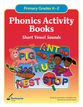 Phonics Activity Books - Short Vowels (Grades K-2) by Teaching Ink