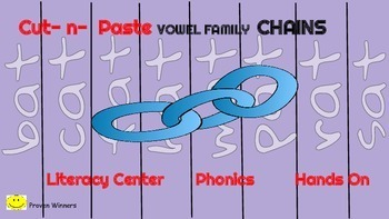 Phonics Activity Bundle !  Long and Short Vowel Paper Chains, Holiday Templates