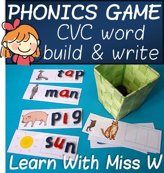 CVC word phonics game