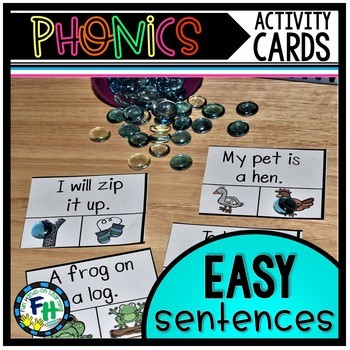 Phonics Activity Cards Easy Sentences