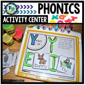 Phonics Activity Center Y as a Vowel