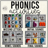 Phonics Activities: Letter Sounds, CVC words,  and MORE! (Distance Learning)