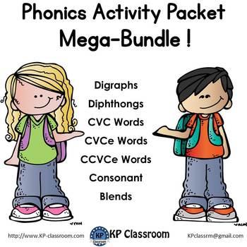 Phonics Activity Packet and Worksheets Mega Bundle