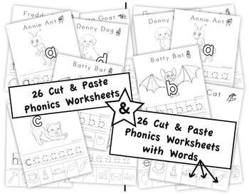 Phonics Activity Sheets I - Cut & Paste - First Letter Sou
