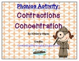 Phonics Activity/Guided Reading: Contraction Concentration