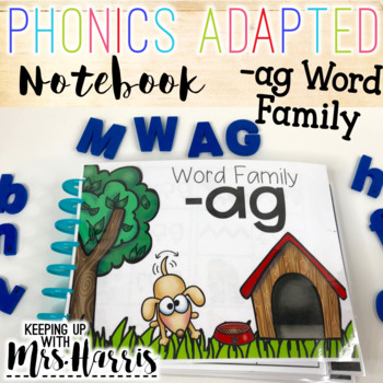 Phonics Interactive Adapted Binder: -ag Word Family
