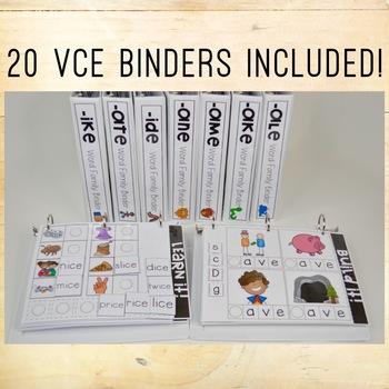 Phonics Adapted Binders BUNDLE - CVC and VCE
